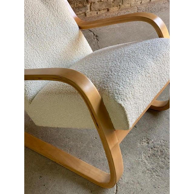 Alvar Aalto Model 401 Cantilever Lounge Chair in Bouclé by Finmar circa 1940 No:1 Stunning early Alvar Aalto Model 401...