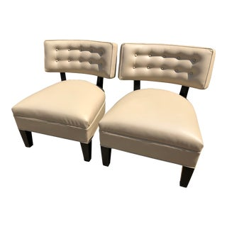 Vintage Mitchell Gold + Bob Williams Leather Club Chairs - A Pair For Sale