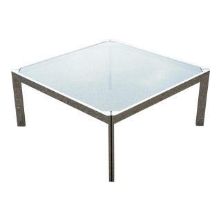 Brueton Steel and Glass Coffee Table by Richard Thompson For Sale