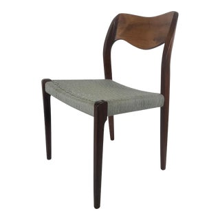 J.L. Møllers Møbelfabrik for Niels Møller Rosewood Dining Chair Model 71 For Sale