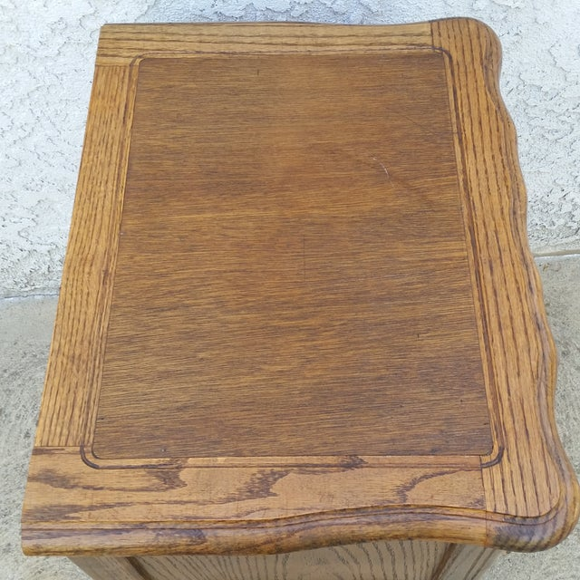 20th Century French Provincial Oak Nightstand For Sale - Image 9 of 11