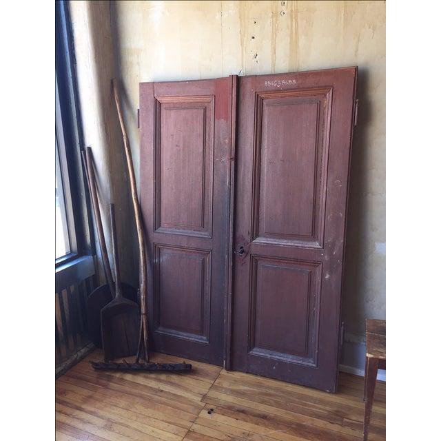 Wood Italian Antique Cellar Doors For Sale - Image 7 of 9