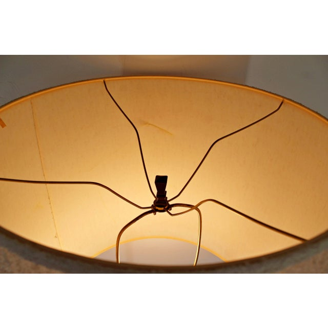 Laurel Lamp Company Mid-Century Modern Laurel Brass and Wood Floor Lamp With Original Shade, 1960s For Sale - Image 4 of 8