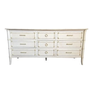 Faux Bamboo Triple Dresser by Thomasville For Sale