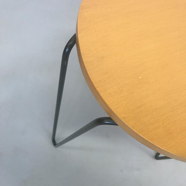 Knoll Florence Knoll Hairpin Stool or Side Table For Sale - Image 4 of 5
