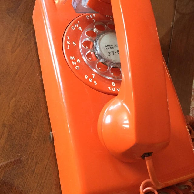 Vintage Orange Wall Phone - Image 5 of 12