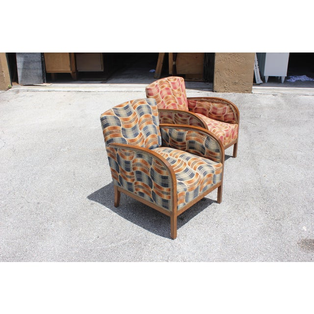 French Art Deco Sold Mahogany Speed Armchairs - A Pair - Image 3 of 11