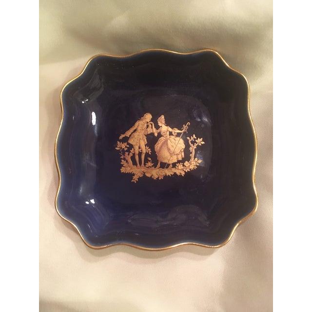 Vintage Cobalt Blue Limoges Pocelain D'Art Vanity Set For Sale - Image 12 of 13