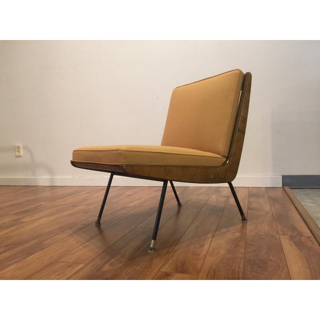 Yellow New Yellow Upholstery Mid-Century Boomerang Chair For Sale - Image 8 of 11