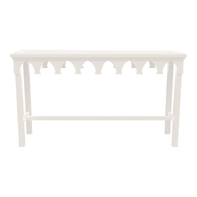 Oomph Ocean Drive Outdoor Console Table, White For Sale