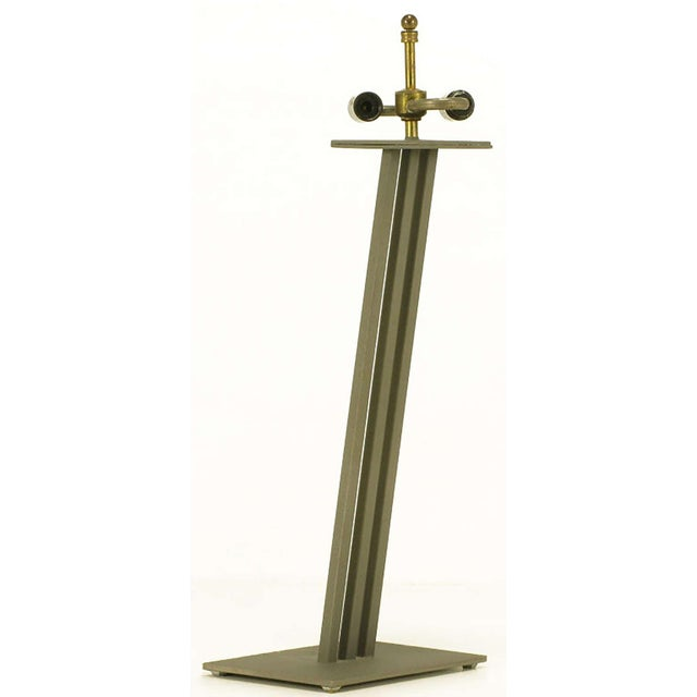 Memphis Postmodern Memphis-Style Angled Metal Table Lamp For Sale - Image 3 of 5