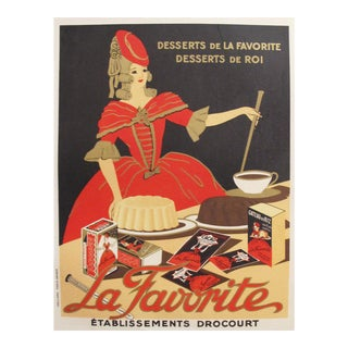 1930s French Vintage Food Poster, La Favorite Baking For Sale