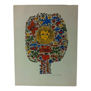"""Original Signed Color Print on Paper, """"Colorful Sunshine"""" by Margarite Galetan For Sale"""