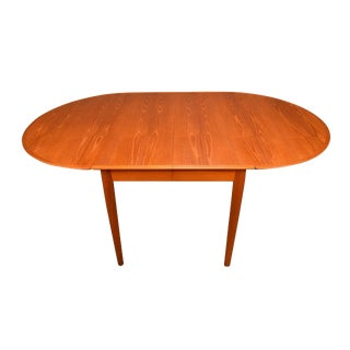 1960's Vintage Arne Vodder Danish Teak Dining Drop Leaf Table For Sale