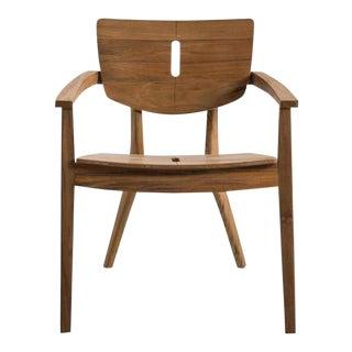 "Oasiq ""Diuna"" Teak Wood Arm Chair For Sale"