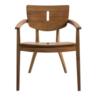 """Vintage Oasiq """"Diuna"""" Teak Wood Arm Chair For Sale"""
