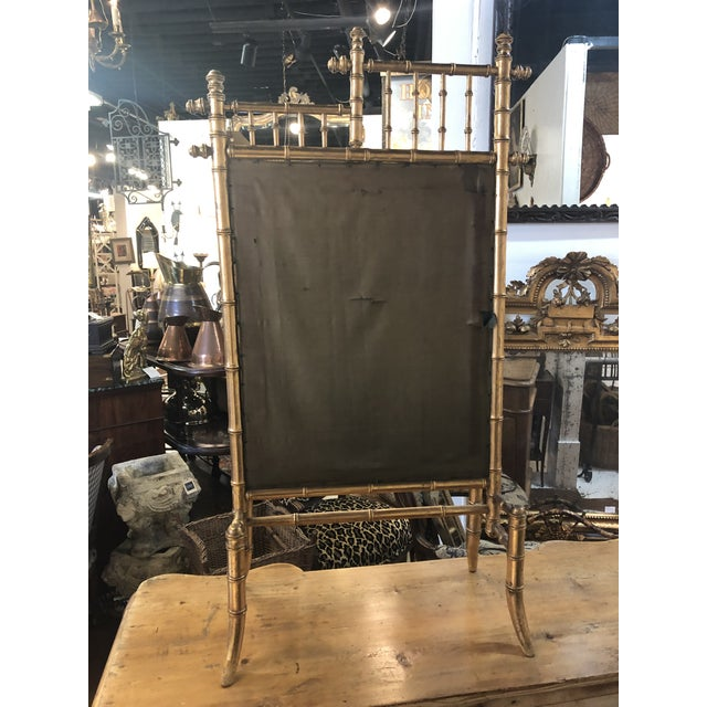 Bamboo Gold Bamboo Fire Screen For Sale - Image 7 of 11