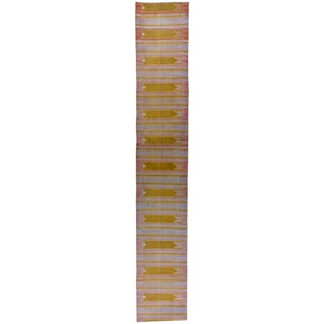 Textile Vintage Indian Dhurrie Runner For Sale - Image 7 of 7