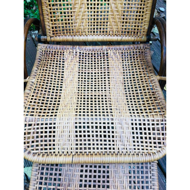 Vintage Mid Century Modern Franco Albini Lounge Chair & Side Table For Sale - Image 10 of 13