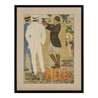 Belle Epoque Italian Fashion Art Lithographic Poster by Marcello Dudovich For Sale