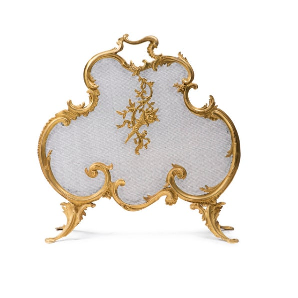 French Early 20th Century French Louis XV Fire Screen For Sale - Image 3 of 3