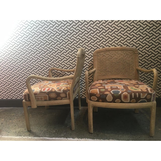 Henredon Henredon Cane Chairs - A Pair For Sale - Image 4 of 6