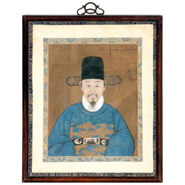 Framed Korean Official Portrait Joseon Dynasty For Sale - Image 11 of 11