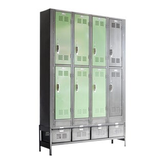 Vertical Locker and Basket Storage Unit For Sale