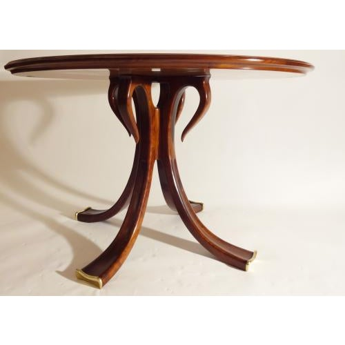 Wood Osvaldo Borsani Rare and Important Center Table in Cherry and Glass For Sale - Image 7 of 9