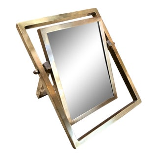 Italy 1970s Modernist Brass Adjustable Picture Photo Frame For Sale