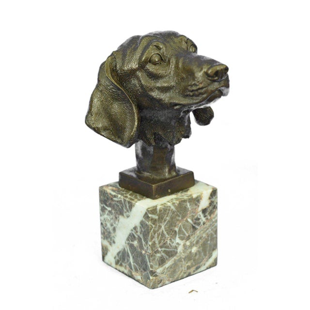 Dachshund Bust Bronze Sculpture For Sale In New York - Image 6 of 10