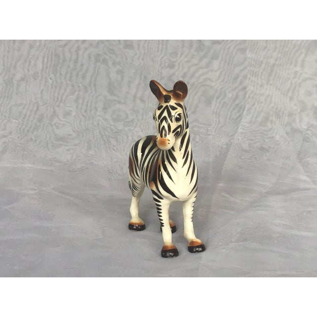 Mid-Century Modern Mid-Century Modern Fern Importation Ceramic Zebra Figurine For Sale - Image 3 of 12