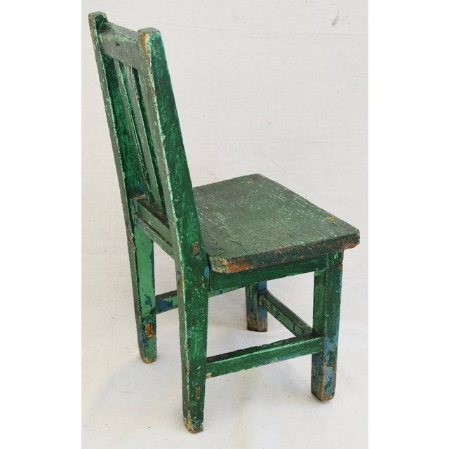 Early 1900s Primitive Country Child's Chair - Image 5 of 9