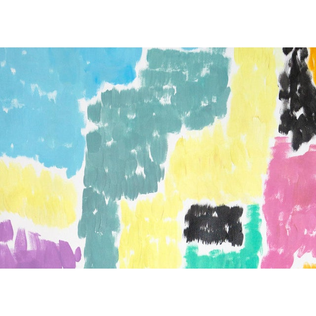 Purple Leaving the City Diptych Abstract Shapes Cityscape Painting by Natalia Roman For Sale - Image 8 of 12