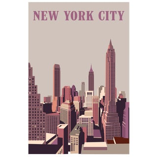 2019 Contemporary Travel Poster - Pascal Blanchet - New York City For Sale