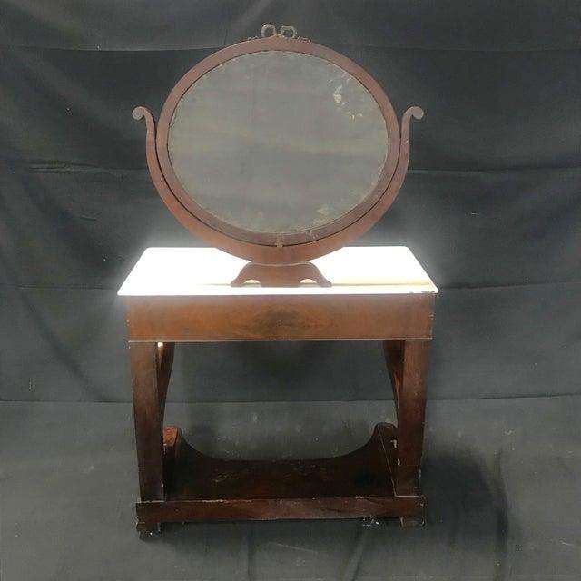 Ornate Lavish Charles X Mahogany Empire Dressing Table For Sale - Image 12 of 13