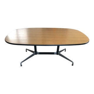 Mid Century Modern Eames for Herman Miller Aluminum Group Table For Sale