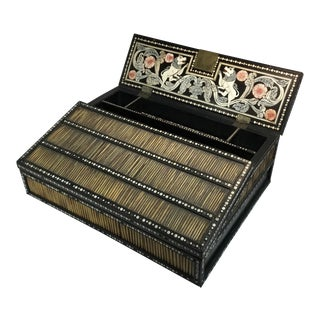 Mid 18th Century Portable Desk\Box With Porcupine Quills and Bone Inlays For Sale