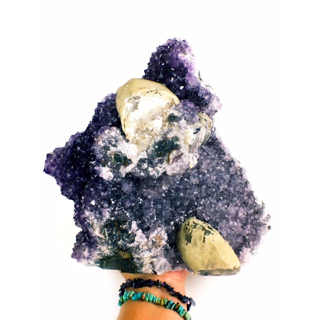 Contemporary Amethyst Calcite Cathedral Decorative Piece For Sale - Image 4 of 6