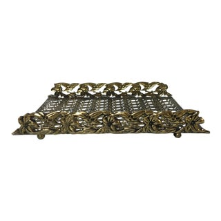 Vintage Hollywood Regency Filigree Hand Towel Holder For Sale
