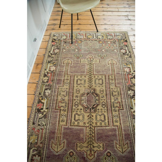 "Vintage Distressed Oushak Runner - 3'8"" X 6'10"" - Image 10 of 10"