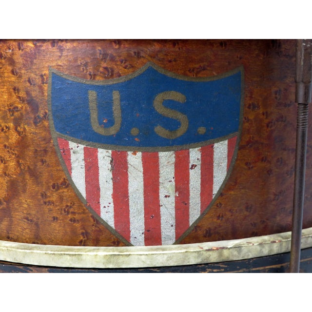Brown Early 20th Century Antique Parade Marching Snare Drum For Sale - Image 8 of 13