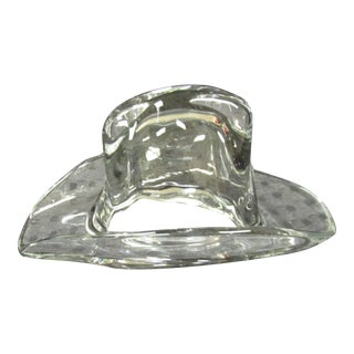 Ralph Lauren Glass Cowboy Hat Paper Weight For Sale