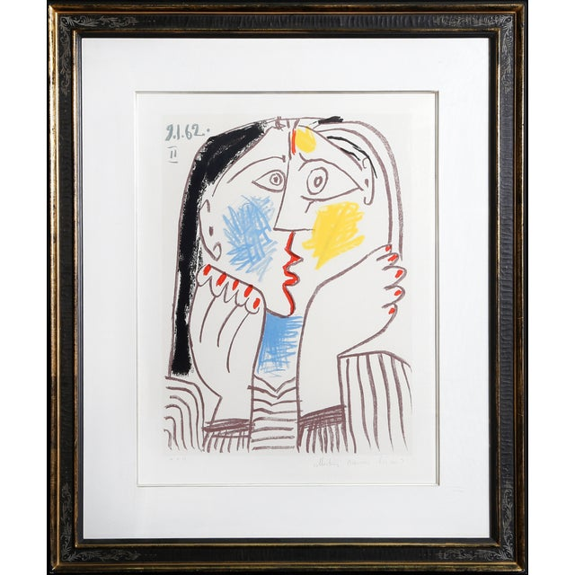 Lithograph on Arches paper by Pablo Picasso (1881 - 1973). Title: Tete Appuyee sur les Mains II Year of Original: 1962...