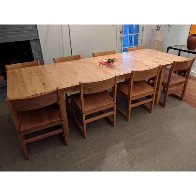 Contemporary Organic Modernist Minimalist Oak Chairs - Set of 12 For Sale - Image 3 of 10