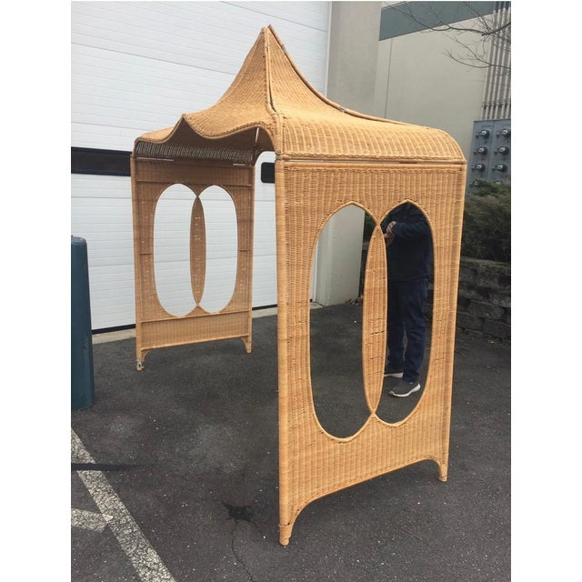 Architectural Rattan Canopy For Sale - Image 13 of 13