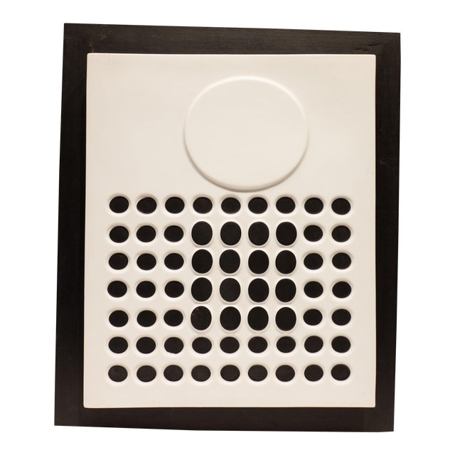 Victor Vasarely Porcelain Relief