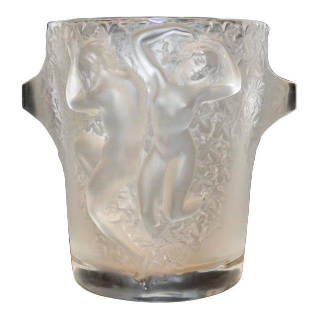 Lalique Lalique Molded and Frosted Glass Ice or Champaign Bucket For Sale - Image 4 of 4