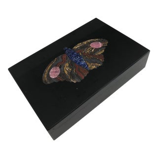 Richard Blow Style Modernist Pietra Dura Italian Stone Box For Sale
