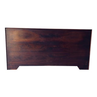 Midcentury Modern Style Rosewood Plank King Headboard For Sale
